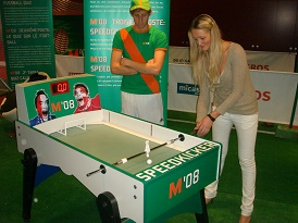 SpeedKicker virtueller Penalty TouchscreenGame Fussball-EventGame Messespiel Torwand