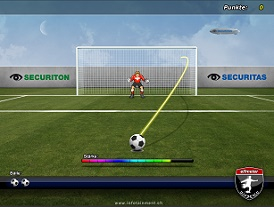 virtueller Penalty TouchscreenGame Fussball-EventGame Messespiel Torwand
