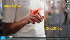 LaserGame, LaserQuiz, interkative MesseShow, QuizShow, LaserContact, virtual laser system,