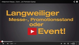 Langweiliger Messestand Event Promotion ... infotainment.ch bietet ACTION